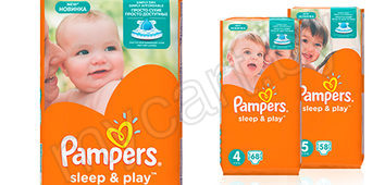 Подгузники Pampers Sleep&Play Midi (5-9 кг) 78 шт./Junior (11-18 кг) 58 шт./Maxi (8-14 кг) 68 шт.