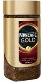 Кофе натуральный Nescafe Gold растворимый сублимированный с добавлкнием жареного молотого, 95г
