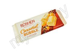 Шоколад ROSHEN, пористый, white bubble, caramel bubble, milk bubble, к/ф Roshen, 80 г